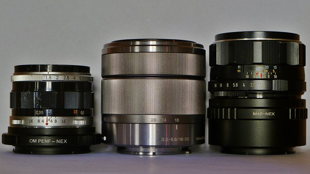f-zuiko-38mm-sony-nex-kit-lens-super-takumar-55mm