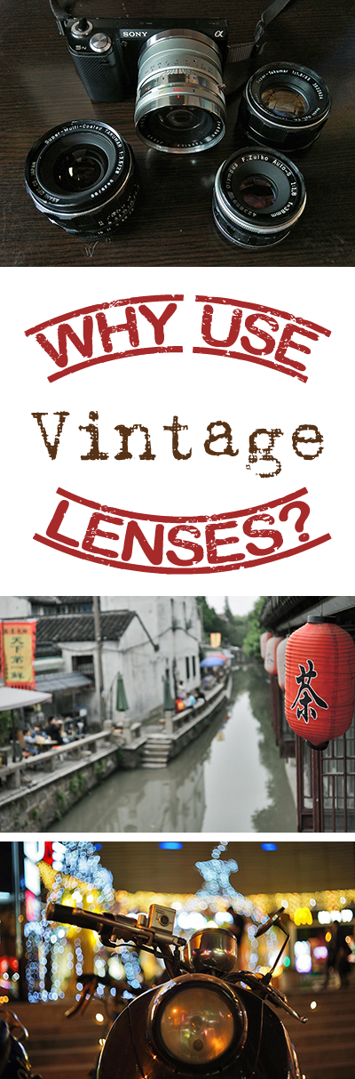 Why use vintage lenses? It's a good question, and you can find a lot of good answers to it here. Come learn why you should own at least one vintage lens.