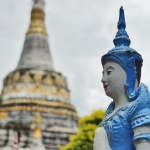 figurine and stupa in thailand