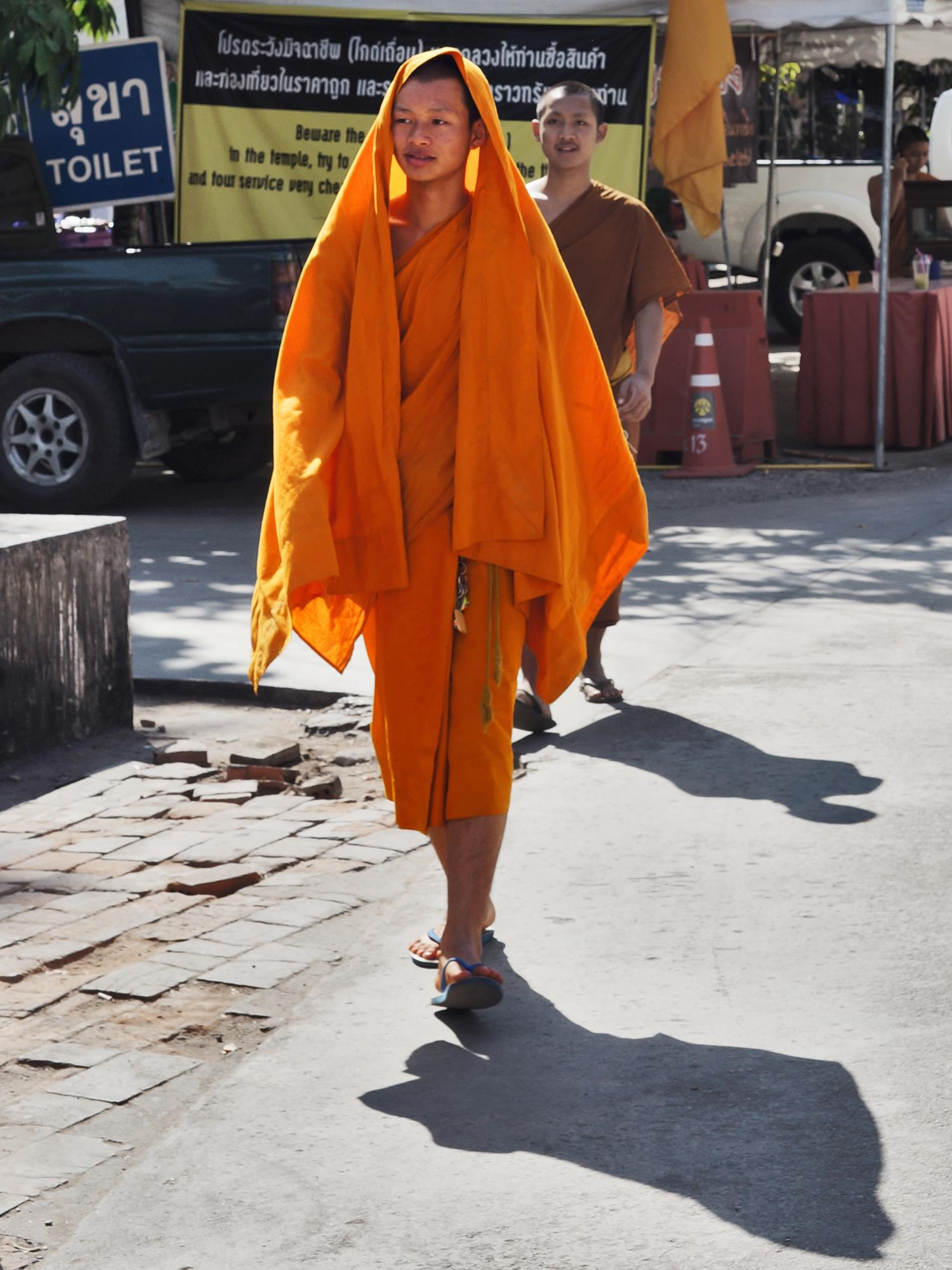 monk at chiang mai temple