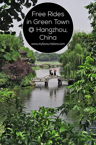 Hangzhou, China. One of the country's greenest and most visited tourist cities, which in China is saying a lot. West Lake is where most people know and head for first, and with good reason. It's a beautiful spot for walking, relaxing, and cycling. And photography, of course. Bicycles are available for the public to rent too, and can be gotten for free if you know how to play the game. In this account of a weekend in Hangzhou, I'll tell you how.