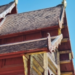 temple roof in chiang mai