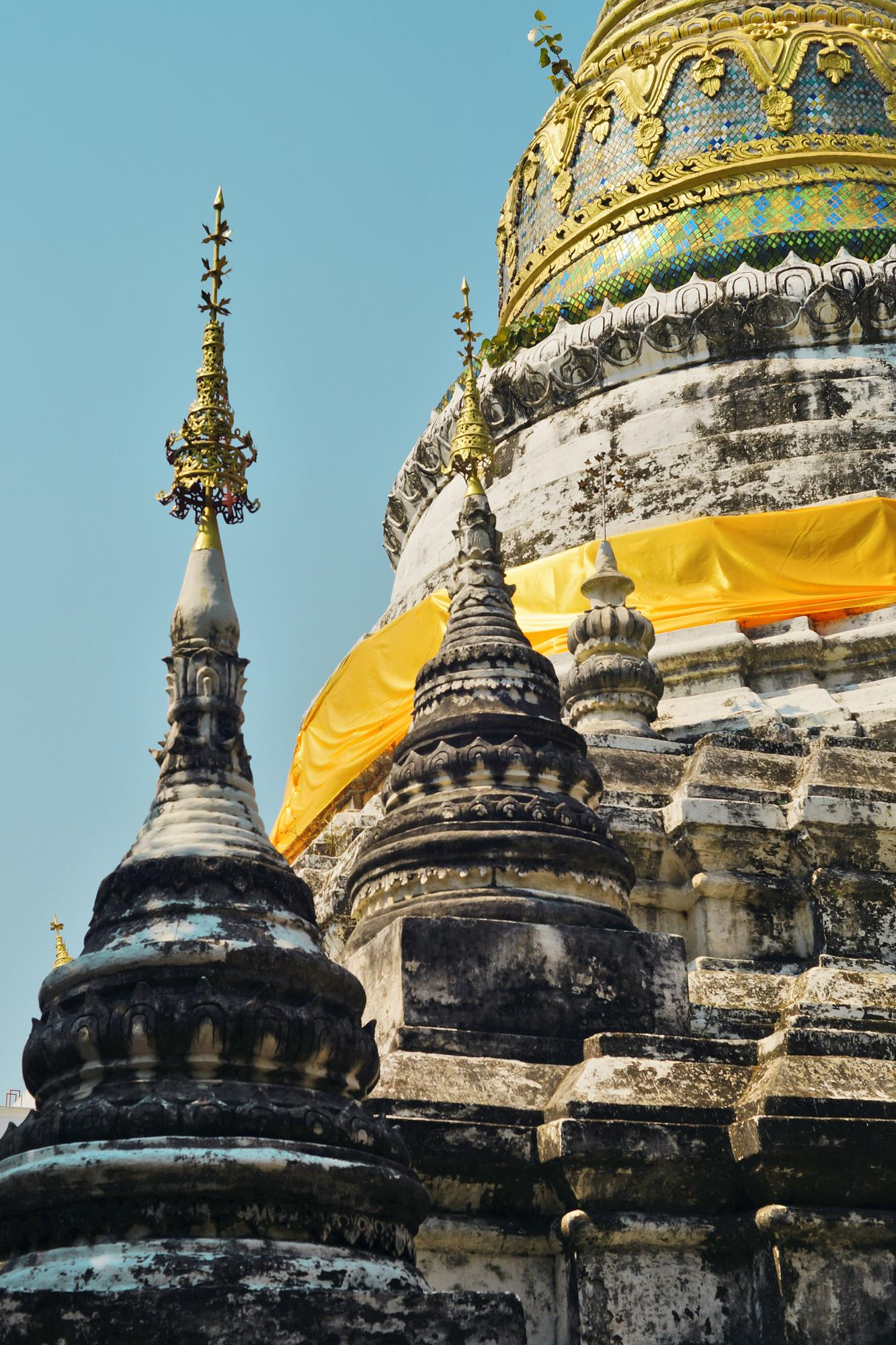 temple stupas in chiang mai