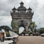 coffee cup at patuxai vientiane