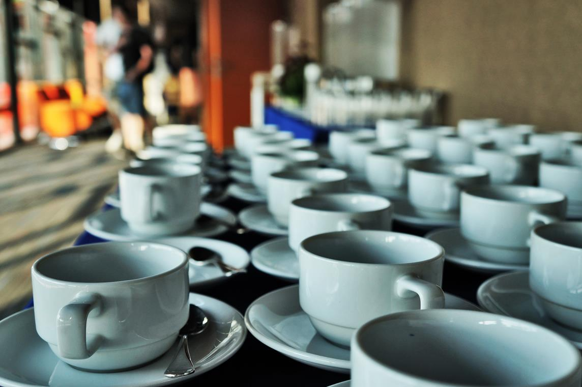 coffee cups at chiang mai nomad summit