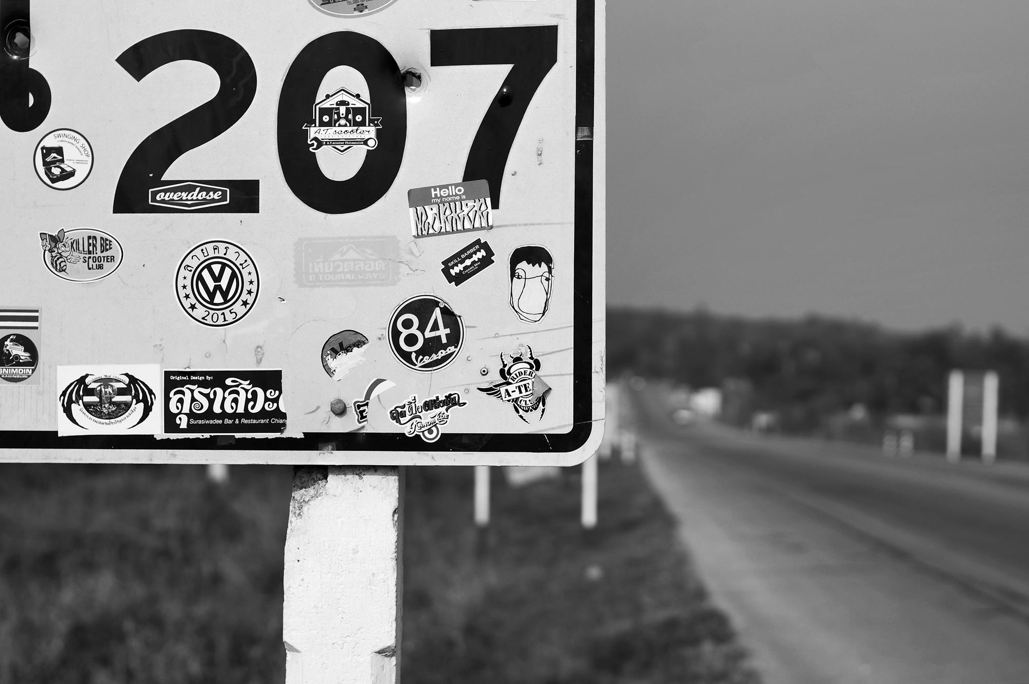 road sign between chiang mai and pai