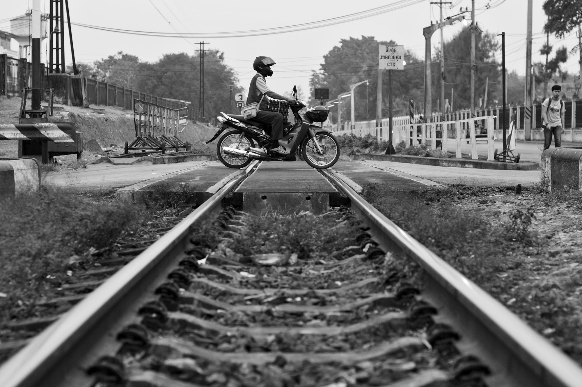 railway crossing lopburi thailand