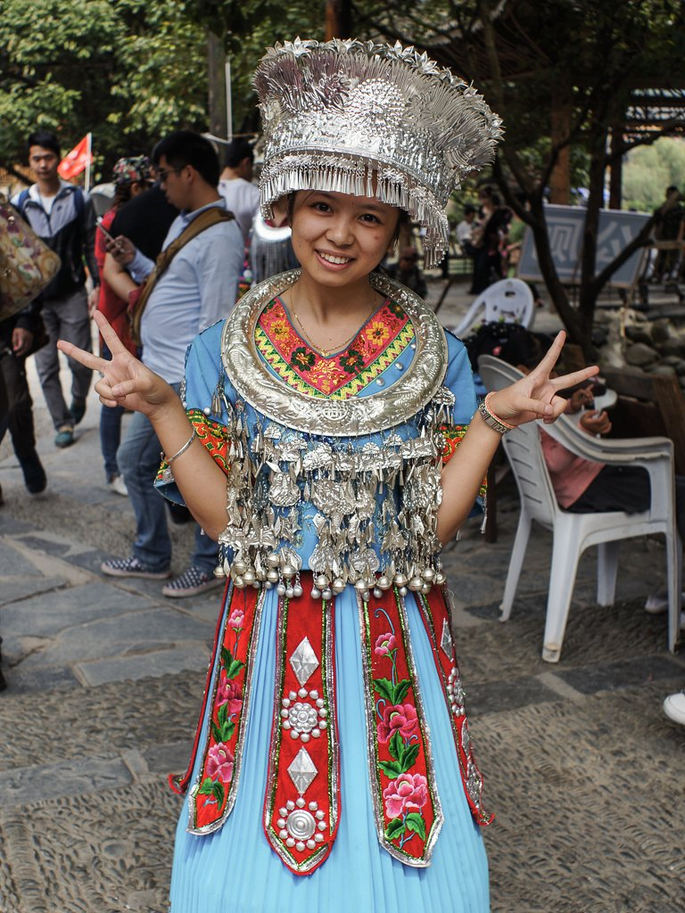 miao minority costume chinese girl
