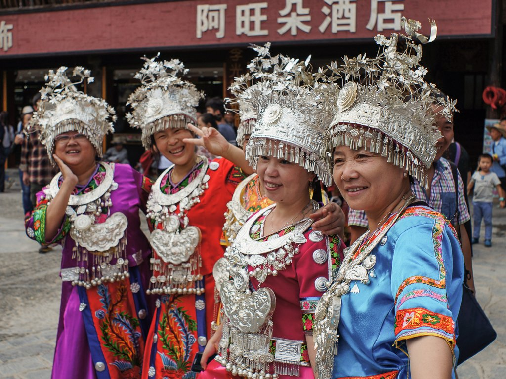 miao minority costume chinese ladies