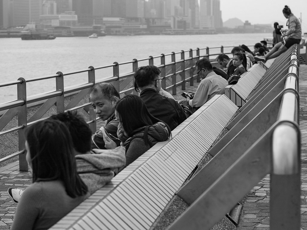 hong kong waterfront street photo