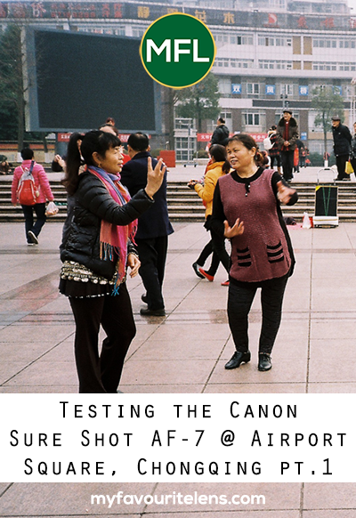 Stuck in Chongqing for a day, I had time to test out my Canon Sure Shot AF-7. Airport Square was the location. These are the photographs. Come see.