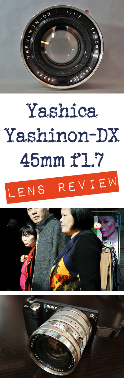 The Yashica Yashinon-DX 45mm f1.7 can be a great vintage lens to use on your mirrorless camera. Come see if it's a good choice for you in this review!