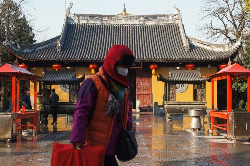 Checking out Longhua Temple, Shanghai