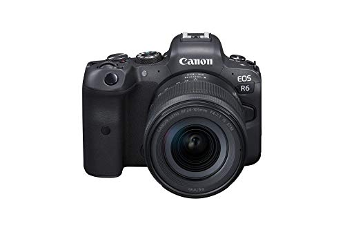 Canon EOS R6 Full-Frame Mirrorless Camera + RF24-105mm F4-7.1 is STM Lens Kit, Black (4082C022)