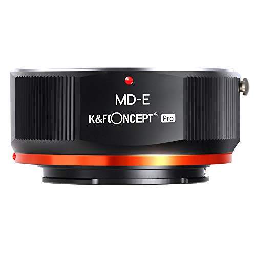 K&F Concept MD to NEX Lens Mount Adapter for Minolta MD MC Mount Lens to NEX E Mount Mirrorless Cameras with Matting Varnish Design for Sony A6000 A6400 A7II A5100 A7 A7RIII