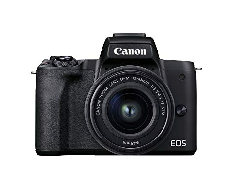 Canon EOS M50 Mark II + EF-M 15-45mm is STM Kit Black