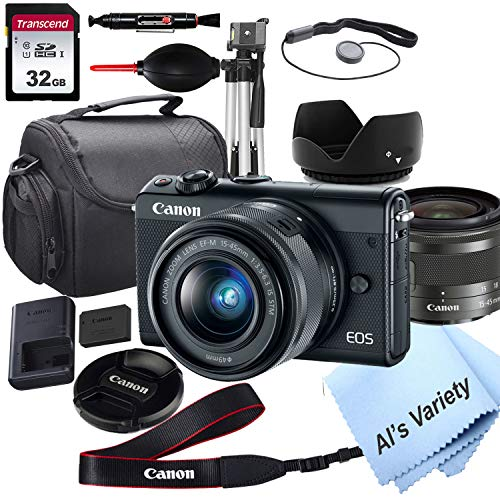 Canon EOS M100 Mirrorless Digital Camera with 15-45mm Lens + 32GB Card, Tripod, Case, and More (ALS Variety Bundle)