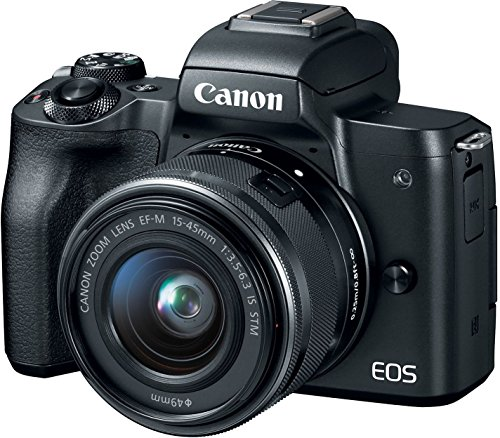 Canon EOS M50 Mirrorless Vlogging Camera Kit with EF-M 15-45mm lens, Black