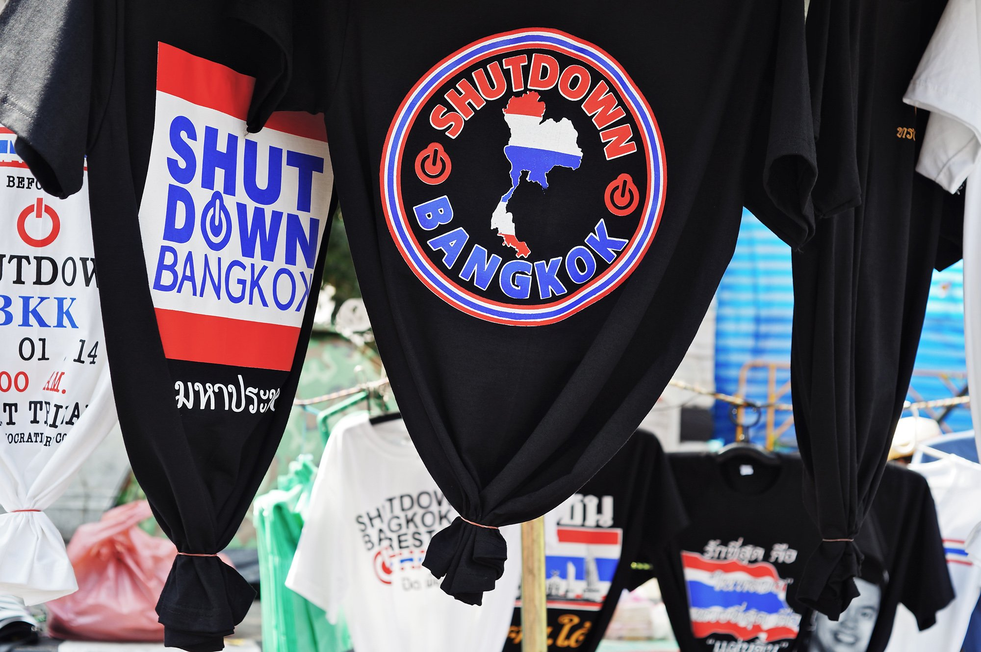 shutdown bangkok t shirt
