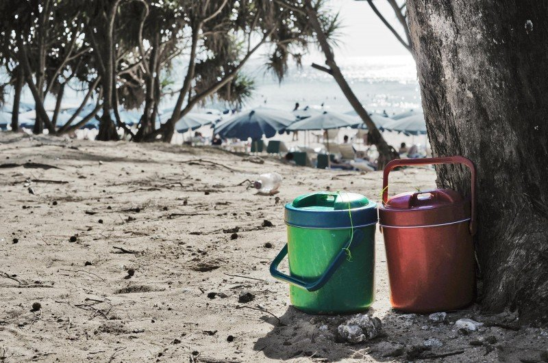 drinks coolers on phuket beach thailand