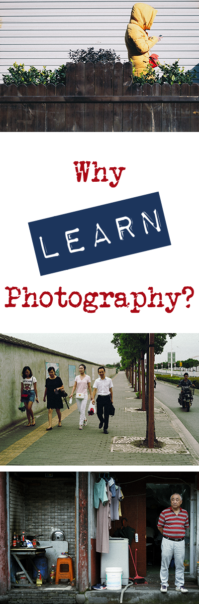 Why learn photography? I can't answer that for you, but I can answer it for me. It was to get myself closer to where I want to be in life - the same as when you learn anything. Come read and learn more and try to figure out the answer to this too - why do *you* want to learn photography?