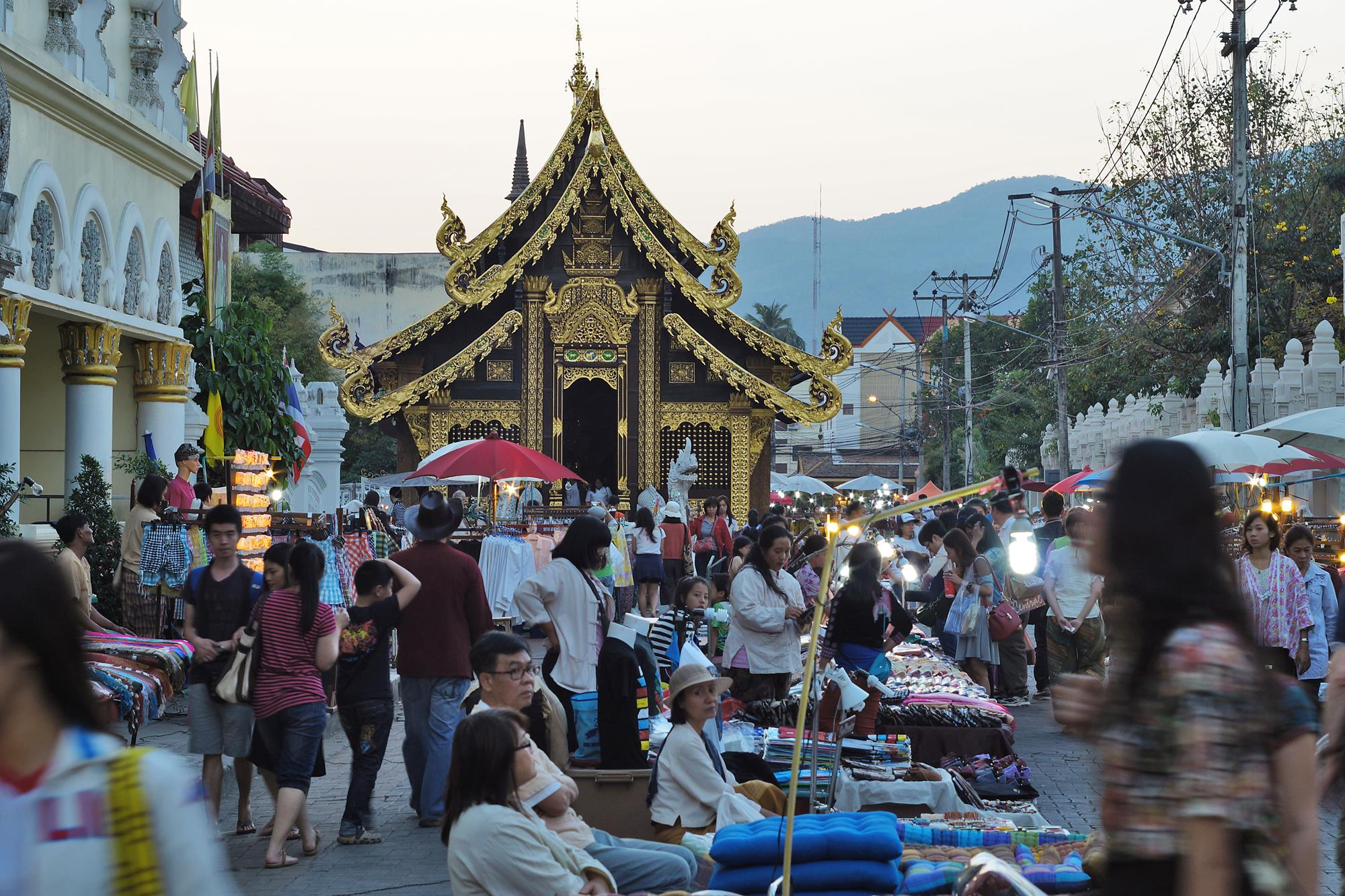 market at chiang mai temple
