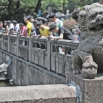 stone lion at hangzhou china