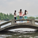 west lake hangzhou tourists