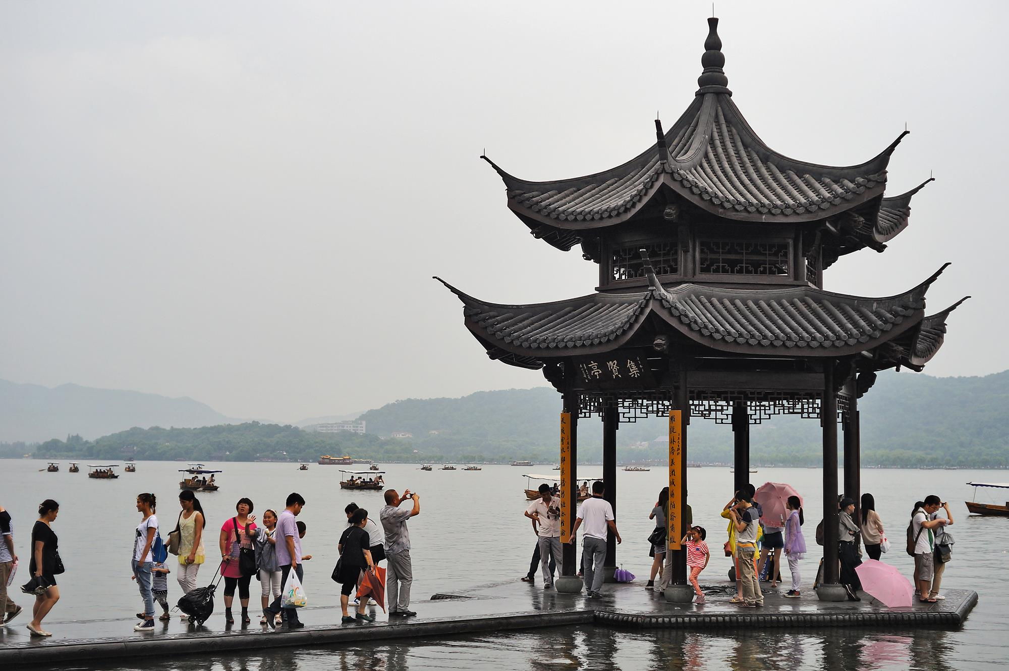 pagoda at hangzhou west lake