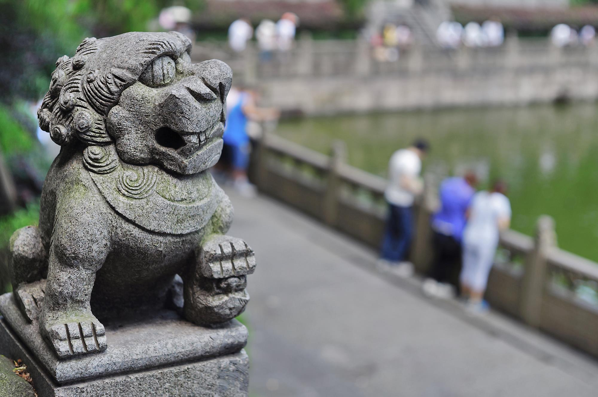 stone lion in hangzhou china
