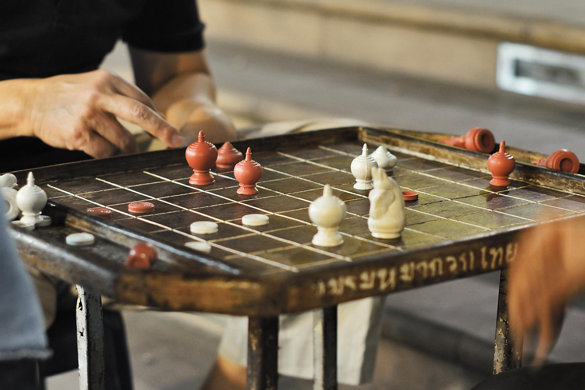 chess on chiang mai street