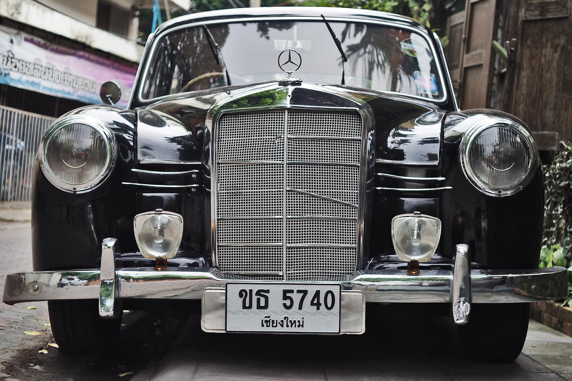 vintage mercedes in chiang mai thailand