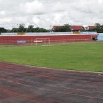 panorama of national stadium vientiane laos