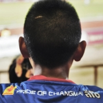 young boy at chiang mai fc game