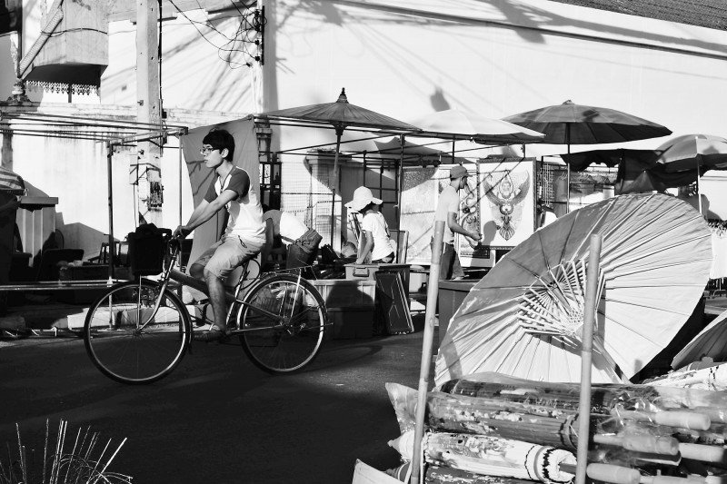 bicycle at chiang mai sunday walking street