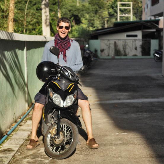 lee webb sitting on motorbike