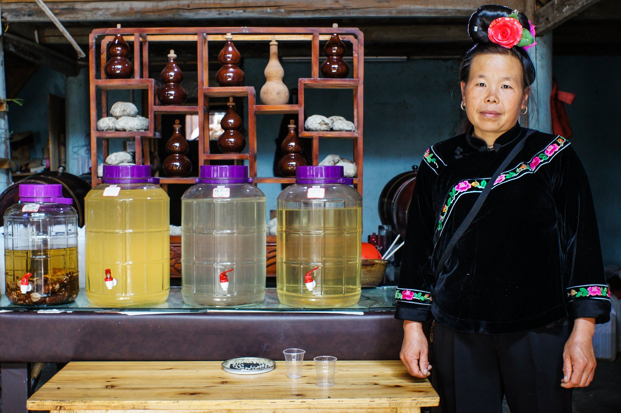 china local alcohol woman