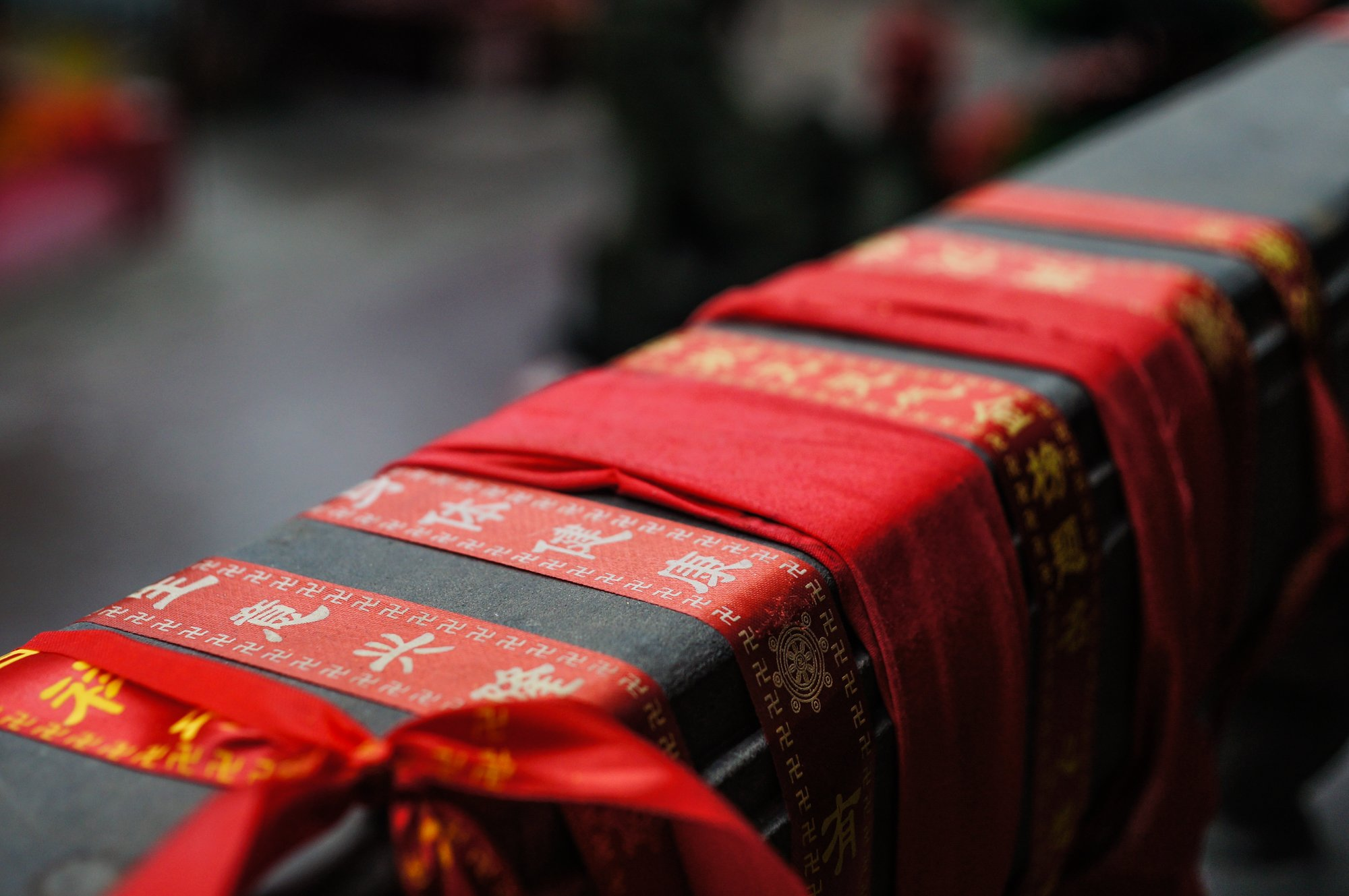 red buddhist ribbons