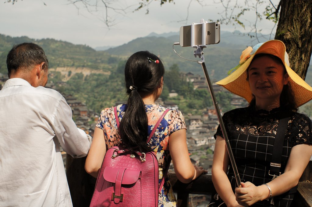 chinese tourist selfie stick