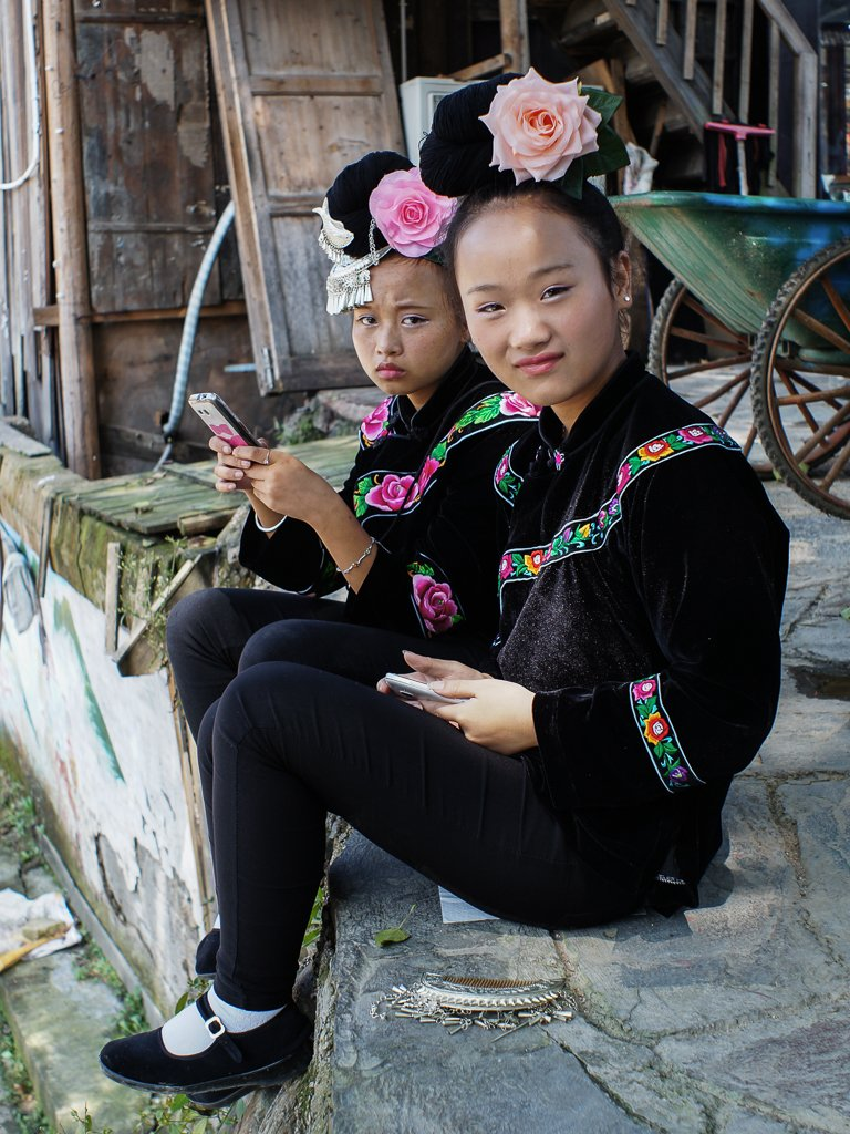 miao minority girls china