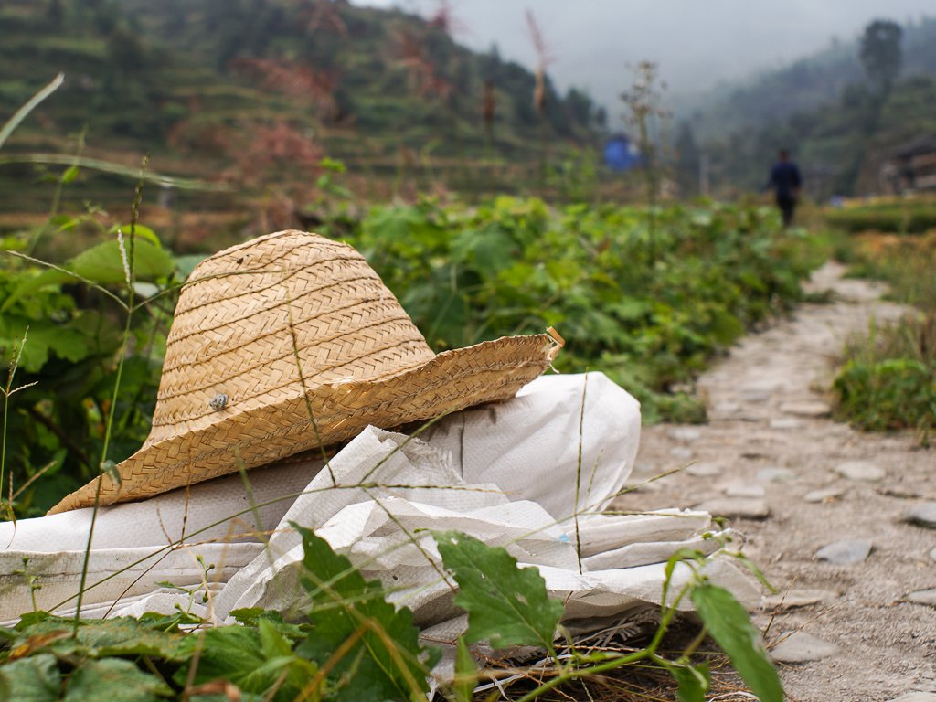 rural chinese farmer hat