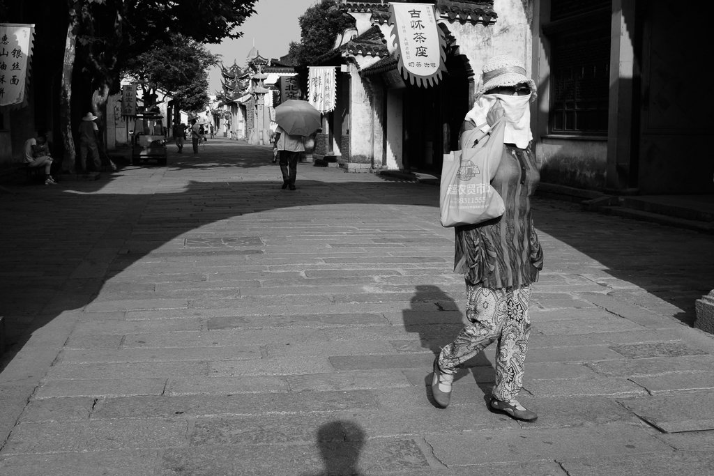 china street shot monochrome