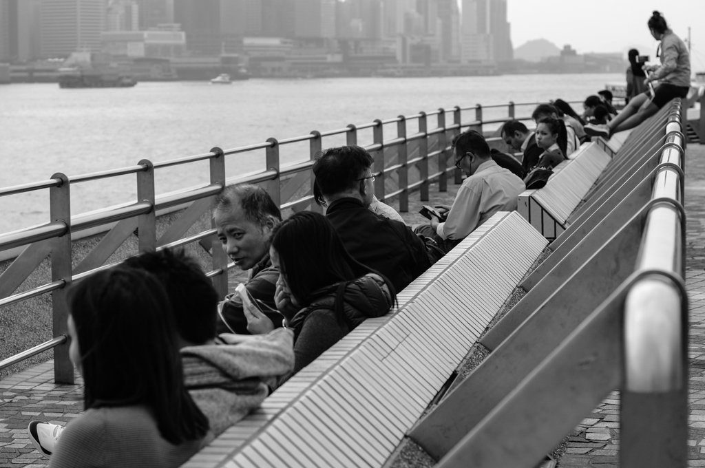 monochrome hong kong street photography