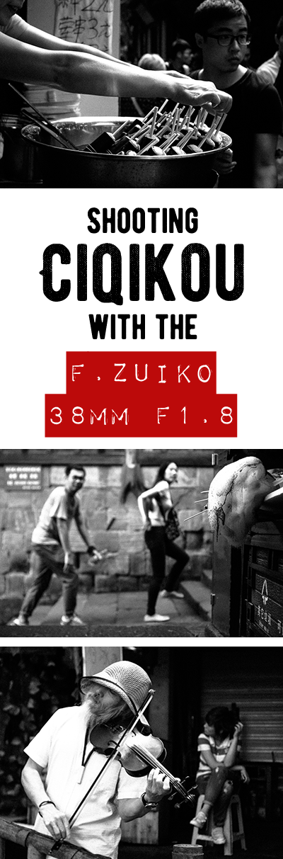 The 38mm F.Zuiko is a great vintage lens for street photography. Small with good image quality. I shot with mine in Ciqikou, Chongqing, China. Come see the results.