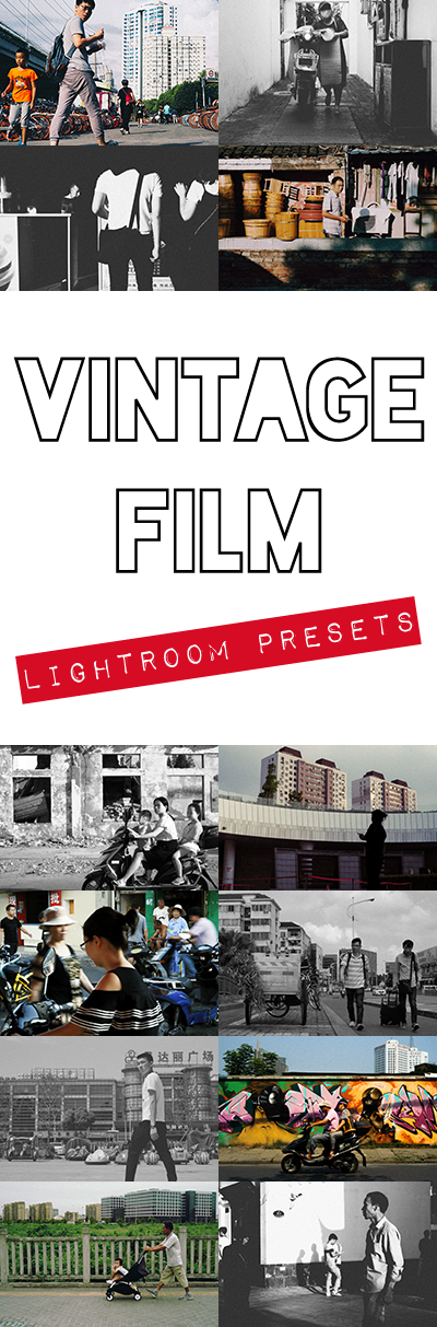 Want to give your street photography a cool grainy film look? Then come get this Vintage Film Lightroom presets pack and do exactly that today!