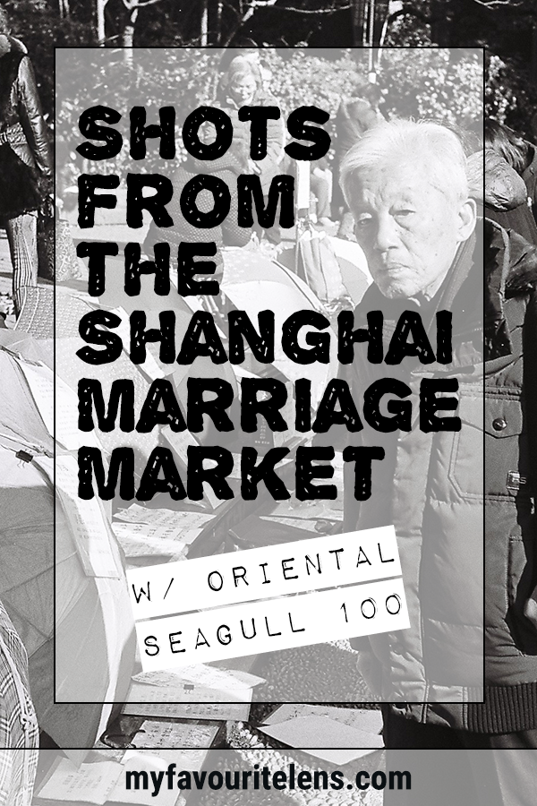 The Shanghai marriage market is like old school, in-person Tinder run by parents. I shot some of it on monochrome film. Come see how it turned out.