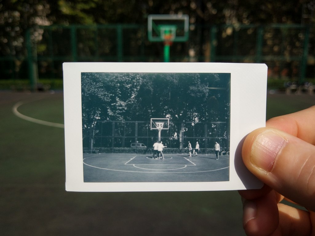 basketball court instax