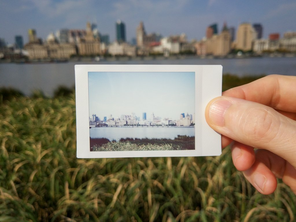 shanghai bund on instax