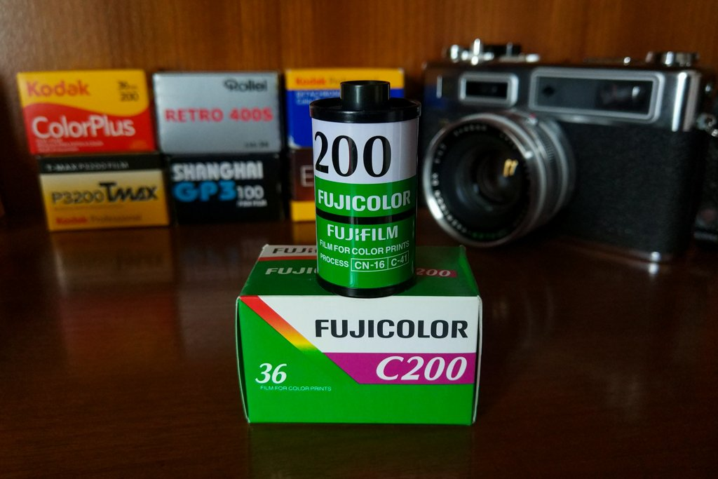 fujicolor c200 box and canister