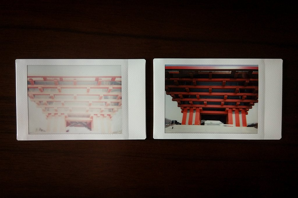 overexposed instax shot